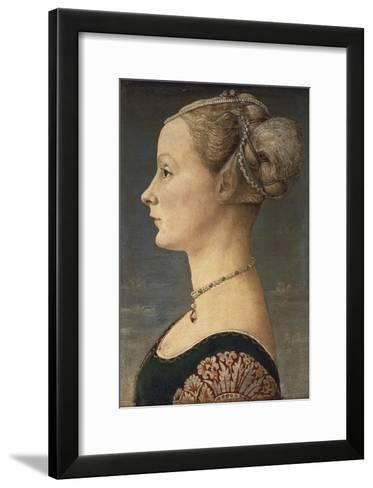 Portrait of a Lady-Antonio Pollaiolo-Framed Art Print