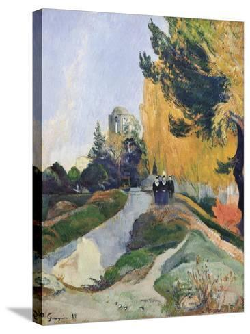 The Alyscamps, Arles-Paul Gauguin-Stretched Canvas Print