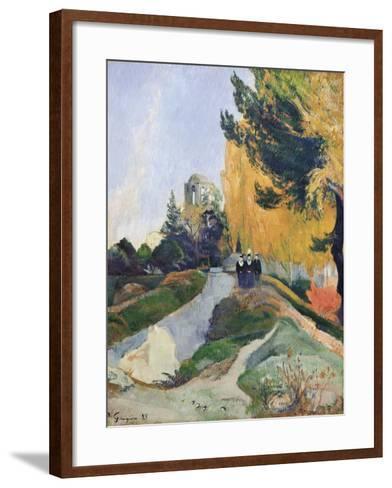 The Alyscamps, Arles-Paul Gauguin-Framed Art Print