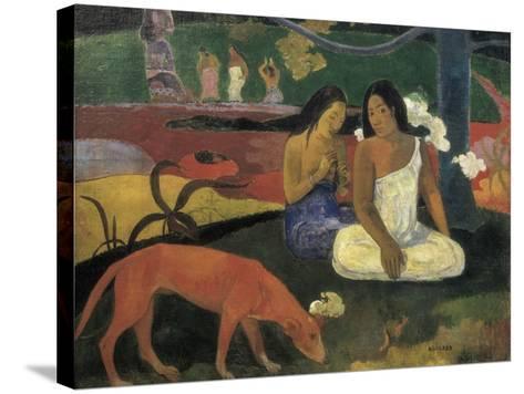 Arearea-Paul Gauguin-Stretched Canvas Print