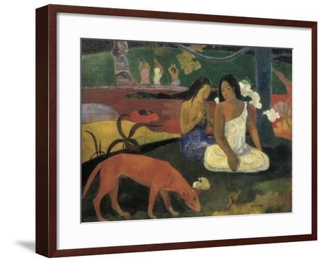 Arearea-Paul Gauguin-Framed Art Print