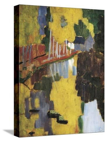 The Talisman, or the Swallow-Hole in the Bois D'Amour, Pont-Aven (Le Talisman)-Paul Serusier-Stretched Canvas Print