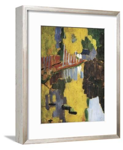 The Talisman, or the Swallow-Hole in the Bois D'Amour, Pont-Aven (Le Talisman)-Paul Serusier-Framed Art Print