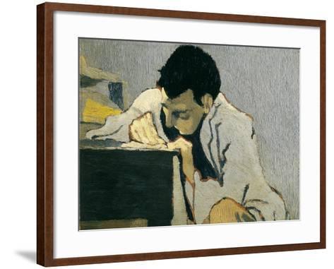 Portrait of Lugn?-Po?-Edouard Vuillard-Framed Art Print