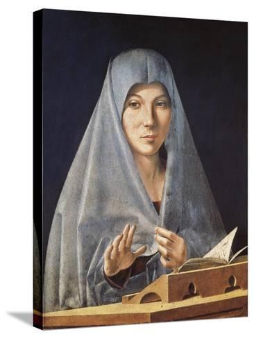Virgin Annunciate-Antonello da Messina-Stretched Canvas Print