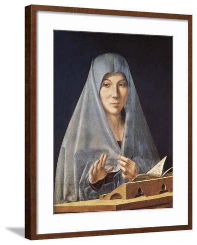 Virgin Annunciate-Antonello da Messina-Framed Art Print