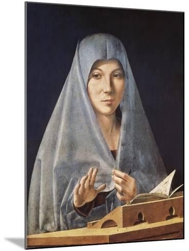 Virgin Annunciate-Antonello da Messina-Mounted Art Print