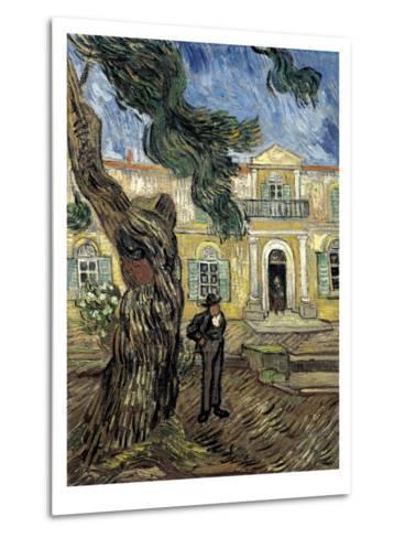 Hospital Saint Paul at Saint-Rémy-De-Provence-Vincent van Gogh-Metal Print