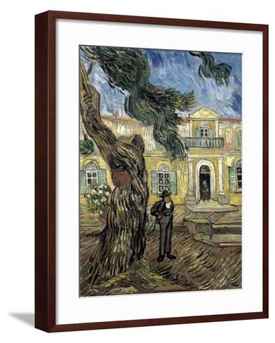 Hospital Saint Paul at Saint-Rémy-De-Provence-Vincent van Gogh-Framed Art Print