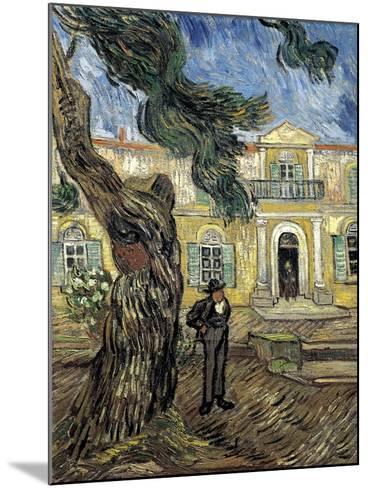 Hospital Saint Paul at Saint-Rémy-De-Provence-Vincent van Gogh-Mounted Art Print