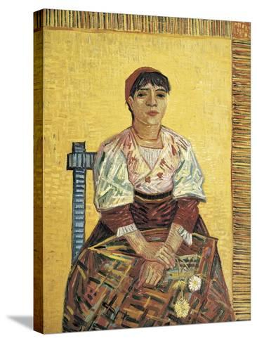The Italian Woman-Vincent van Gogh-Stretched Canvas Print