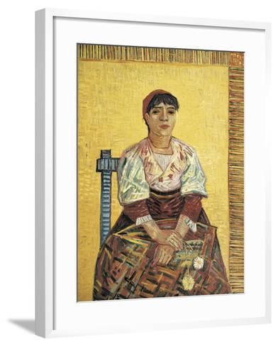 The Italian Woman-Vincent van Gogh-Framed Art Print