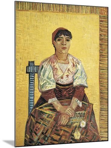 The Italian Woman-Vincent van Gogh-Mounted Art Print