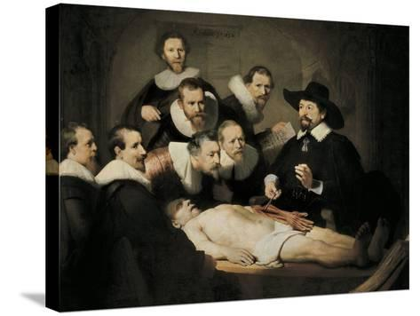 The Anatomy Lecture of Dr-Rembrandt van Rijn-Stretched Canvas Print