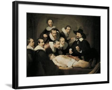 The Anatomy Lecture of Dr-Rembrandt van Rijn-Framed Art Print