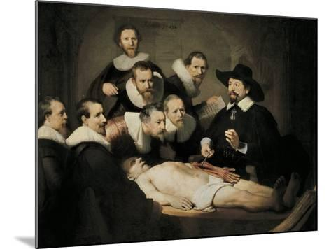 The Anatomy Lecture of Dr-Rembrandt van Rijn-Mounted Art Print