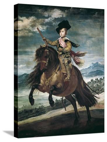 Prince Balthasar Carlos on Horseback-Diego Velazquez-Stretched Canvas Print