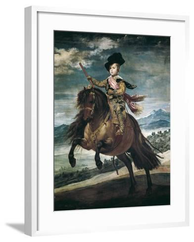 Prince Balthasar Carlos on Horseback-Diego Velazquez-Framed Art Print