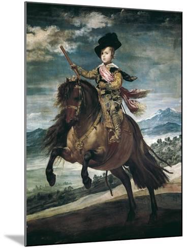 Prince Balthasar Carlos on Horseback-Diego Velazquez-Mounted Art Print
