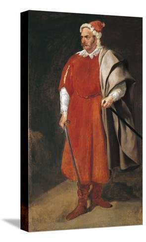 Portrait of the Buffoon 'Redbeard', Cristobal De Castaneda-Diego Velazquez-Stretched Canvas Print