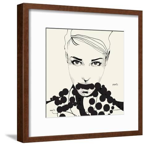 Pearls-Manuel Rebollo-Framed Art Print