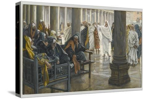 Woe Unto You, Scribes and Pharisees, Illustration from 'The Life of Our Lord Jesus Christ', 1886-94-James Tissot-Stretched Canvas Print