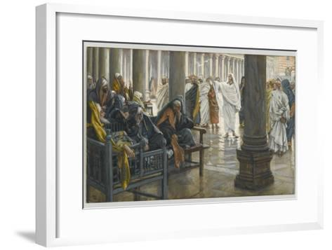 Woe Unto You, Scribes and Pharisees, Illustration from 'The Life of Our Lord Jesus Christ', 1886-94-James Tissot-Framed Art Print