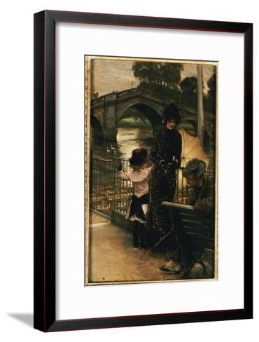 The Artist, Mrs. Kathleen Newton and Her Niece, Lilian Hervey, by the Thames at Richmond, 1878-79-James Tissot-Framed Art Print