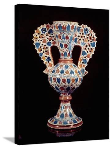 Tin-Glazed Vase with Lustre Decoration, Hispano-Moresque, Valencia, 3rd Quarter of 15th Century-Spanish School-Stretched Canvas Print