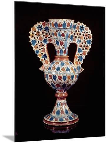 Tin-Glazed Vase with Lustre Decoration, Hispano-Moresque, Valencia, 3rd Quarter of 15th Century-Spanish School-Mounted Giclee Print
