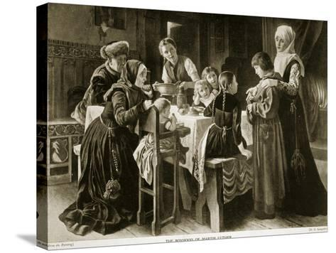The Boyhood of Martin Luther, Illustration from 'Hutchinson's Story of the British Nation', C.1923-Gustav Adolph Spangenberg-Stretched Canvas Print
