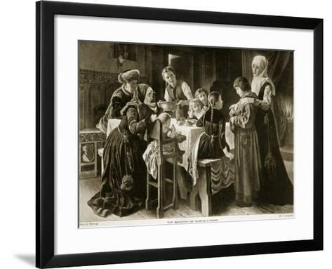 The Boyhood of Martin Luther, Illustration from 'Hutchinson's Story of the British Nation', C.1923-Gustav Adolph Spangenberg-Framed Art Print