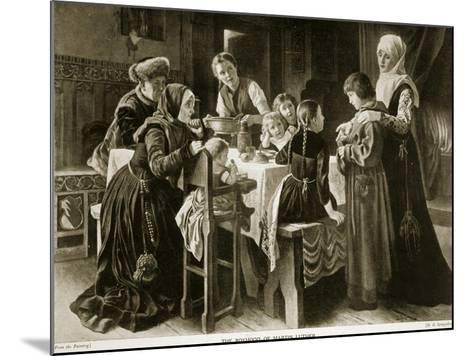 The Boyhood of Martin Luther, Illustration from 'Hutchinson's Story of the British Nation', C.1923-Gustav Adolph Spangenberg-Mounted Giclee Print