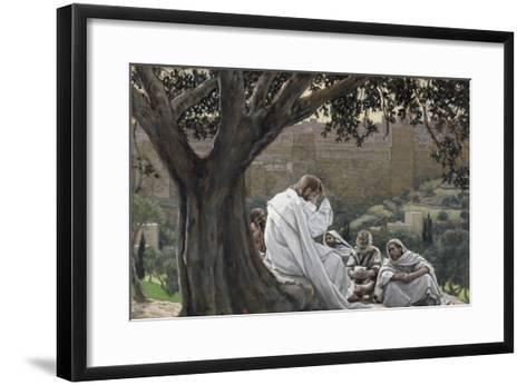 Christ Foretelling the Destruction of the Temple, Illustration for 'The Life of Christ', C.1886-94-James Tissot-Framed Art Print