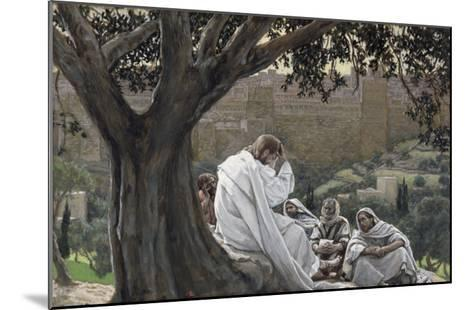 Christ Foretelling the Destruction of the Temple, Illustration for 'The Life of Christ', C.1886-94-James Tissot-Mounted Giclee Print