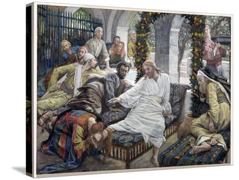 Mary Magdalene's Box of Very Precious Ointment, Illustration for 'The Life of Christ', C.1886-96-James Tissot-Stretched Canvas Print