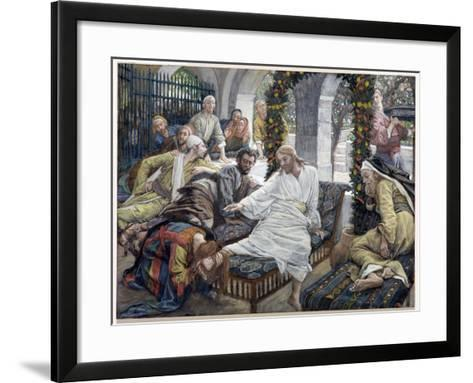 Mary Magdalene's Box of Very Precious Ointment, Illustration for 'The Life of Christ', C.1886-96-James Tissot-Framed Art Print