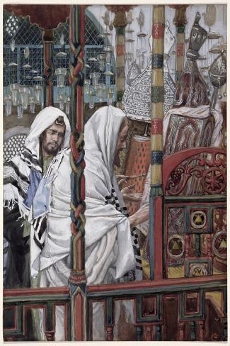 Jesus Teaching in the Synagogue, Illustration for 'The Life of Christ', C.1886-94-James Tissot-Stretched Canvas Print