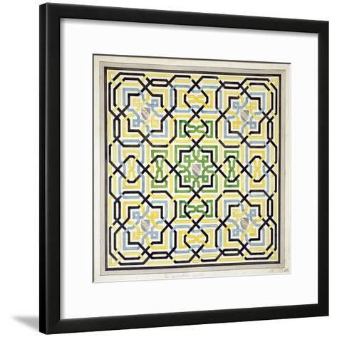 Mosaic Design from the Alhambra, from 'The Arabian Antiquities of Spain', Published 1815-James Cavanagh Murphy-Framed Art Print