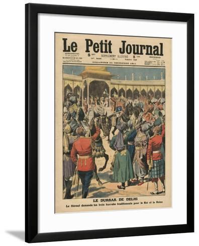 Delhi Durbar, Illustration from 'Le Petit Journal', Supplement Illustre, 24th December 1911-French School-Framed Art Print