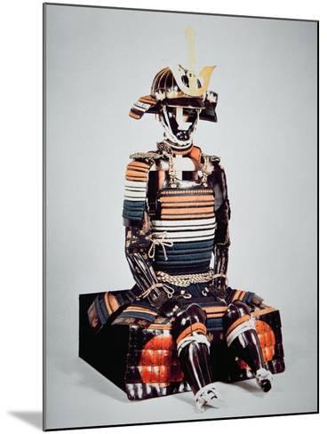 Samurai of Old Japan: Suit of Armour Worn by Toyotomi Hideyoshi, Momoyama Period, 1568-1600-Japanese School-Mounted Giclee Print