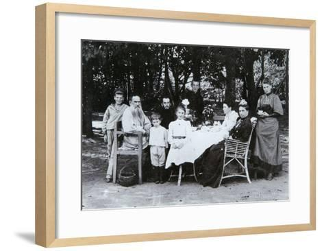 Family Portrait of the Author Leo N. Tolstoy, from the Studio of Scherer, Nabholz and Co.-Russian Photographer-Framed Art Print