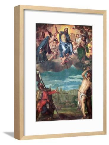 Christ Arresting the Plague with the Prayers of the Virgin, St. Rocco and St. Sebastian-Paolo Veronese-Framed Art Print