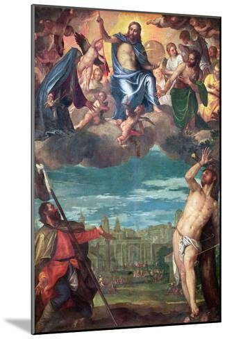 Christ Arresting the Plague with the Prayers of the Virgin, St. Rocco and St. Sebastian-Paolo Veronese-Mounted Giclee Print