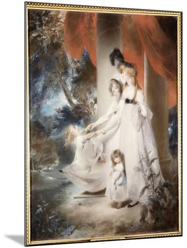 Portrait of Mrs Ayscoghe Boucherett with Her Two Eldest Children, Emilia and Ayscoghe-Thomas Lawrence-Mounted Giclee Print