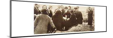 Queen Ena of Spain Signing Autographs for Her Ladies in Waiting before Going into Exile--Mounted Giclee Print