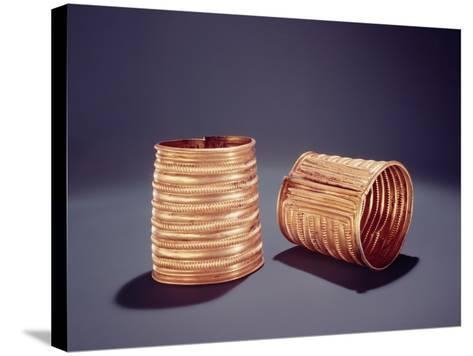 Pair of Armlets, from Derrinboy, County Offaly, Middle Bronze Age, 1400-1200 Bc- Bronze Age-Stretched Canvas Print