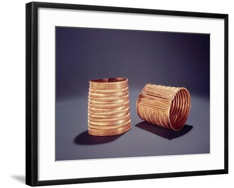Pair of Armlets, from Derrinboy, County Offaly, Middle Bronze Age, 1400-1200 Bc- Bronze Age-Framed Art Print