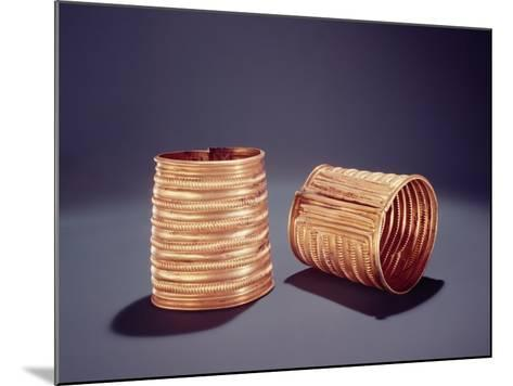 Pair of Armlets, from Derrinboy, County Offaly, Middle Bronze Age, 1400-1200 Bc- Bronze Age-Mounted Giclee Print