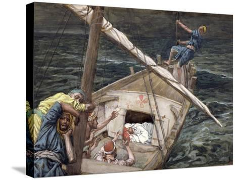 Christ Asleep During the Storm, Illustration for 'The Life of Christ', C.1886-94-James Tissot-Stretched Canvas Print